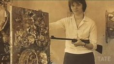 Niki de Saint Phalle used a rifle for her violent action paintings such as Shooting Painting, 1962