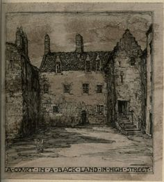 The city of the west. [24 drawings in photogravure of Old Glasgow] ([1912]) Author: King, Jessie MarionSubject: Glasgow (Scotland) — Pictorial worksPublisher: Boston, L. Phillips