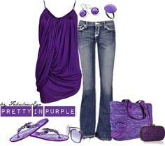"""Pretty in Purple [ in my Closet ]"" by fabulousego on Polyvore"
