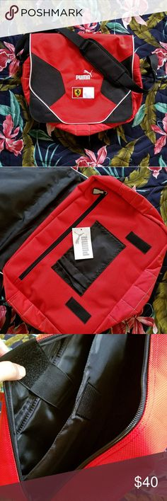 Authentic Puma Ferrari Messenger Bag Medium Pre-owned in like new condition. No stains, snags, holes or pilling.   ✔Available unless stated SOLD ✔Price is negotiable, please use the offer button 🤙Thank you for looking Puma Bags Laptop Bags