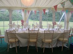Pretty head table for country theme wedding