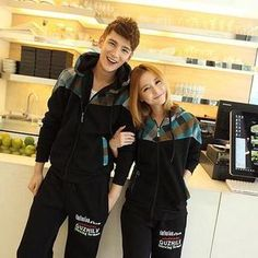 Buy 'Evolu – Couple Set: Check Panel Hoodie + Embroidered Sweatpants' with Free International Shipping at YesStyle.com. Browse and shop for thousands of Asian fashion items from China and more!