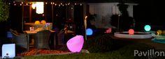 L'éclairage crée l'ambiance!   http://www.clubpiscine.ca/2674-produit-accessoires-meubles-de-jardin-eclairage-d-ambiance-del.html