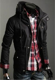 Mens Classic Design Slim Short Style Coats Jackets(Color Optional) in Clothing, Shoes & Accessories | eBay
