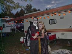 Wondering what other RVers do for Halloween on the road? Here's what you can expect at the RV parks and RV campgrounds - a fun Halloween guide for RVers. Halloween Camping, Spooky Halloween, Halloween Decorations, Halloween Costumes, Halloween Ideas, Decorating Your Rv, Best Places To Camp, Rv Campgrounds, Rv Parks