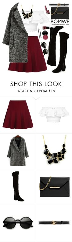 """""""Romwe"""" by oshint ❤ liked on Polyvore featuring Alexander McQueen, Emi Jewellery, Nine West, MICHAEL Michael Kors, Gucci, women's clothing, women, female, woman and misses"""