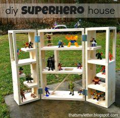"Free plans to build a folding superhero house - from Ana White ("",)"