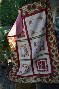Handkerchief  Quilt Vintage Traditional  by TrueloveQuiltsForYou, $280.00