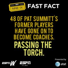 """Want to know the real Pat Summitt? The Nine for IX film """"Pat XO"""" debuts on @ESPN on July 9th, 8pm ET. #NineforIX"""