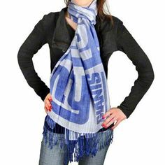 NFL New York Giants 2011 Pashmina Scarf by Forever Collectibles. $24.10. Team colors and logo are highlighted on the scarf. Pashmini lightweight fashion scarf. Officially licensed. Pashmini lightweight fashion scarf.  Team colors and logo are highlighted on the scarf.