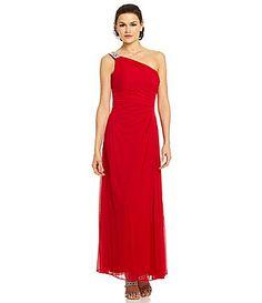 Alex Evenings OneShoulder SideRuched Gown #Dillards