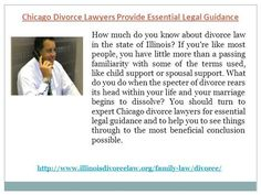 Chicago divorce lawyers for essential legal guidance and to help you to see things through to the most beneficial conclusion possible.