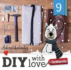 Adventskalender - Türchen Nr. 9 - Bedruckte Tasche mit Lederriemen - DIY by DaWanda ~ Lila-Lotta
