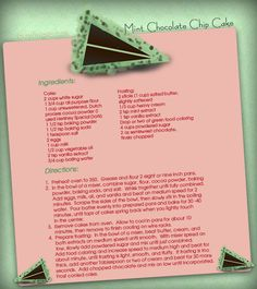 Mint Chocolate Chip Cake Pictures, Photos, and Images for Facebook, Tumblr, Pinterest, and Twitter