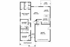 Cottage House Plan - Preston 30-675 - Floor Plan