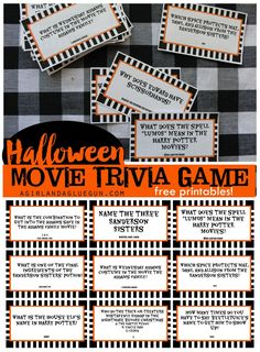 Printable Halloween Movie Trivia Game - 30 Days of Halloween: Day 24 -You can find Trivia and more on our website.Printable Halloween Movie Trivia Game - 30 Days of Halloween: D. Halloween Games Adults, Halloween Movie Night, Halloween Facts, Halloween Office, Halloween School Treats, Halloween Party Games, Halloween Birthday, Halloween Activities, Holidays Halloween