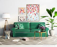 Bright Abstract Leoni Giclee Abstract Print for the Home