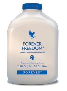 Forever Living - Forever Freedom. All the nutrients of the Aloe Vera Gel combined with glucosamine, chondroitin and MSM, natural elements shown to maintain healthy joint function and flexibility. This drink is ideal for sports people and the more mature who wish to maintain mobility.  Contents: 1 litre Directions: Shake well. Take 60-120ml, (2-4fl oz) daily.