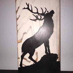 Elk Bugling Silhouette Wood Sign - Mercari: Anyone can buy & sell