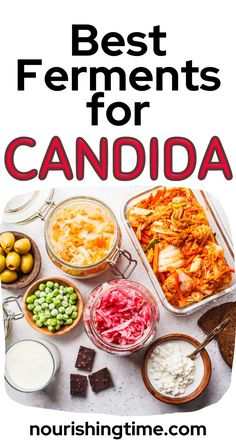 Here are the best ferments for candida! If you are trying to figure out how to get rid of candida overgrowth, these fermented foods can help! Fermented foods are rich in probiotics and enzymes that fight candida! Choose the right ferments and the right way to ferment and you can make inexpensive food therapy that helps you get over candida and keep it away for years and years. These are the same fermented foods that helped my family kick candida to the curb! #candida #ferments…