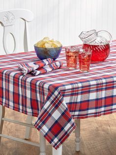 Patriotic Plaid Tablecloth