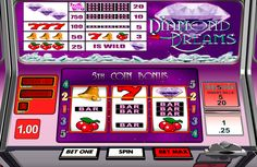 Diamond Dreams by Betsoft has 3 reels and 5 paylines. It's a 3D variation of classic slot. Image of diamond is a Wild icon. It can substitute the other symbols and give 2X multiplier for the winning combinations.