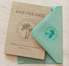 Beachy Passport Save the Date for Destination Wedding | Oh So Beautiful Paper