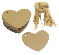 Mr-Label® Heart-Shaped Multi-Function Kraft Paper Tags - Wholesale Gift Tags for Wedding|Chirstmas|Baby Shower Gift Decoration with Free 100Pcs Natural Jute Twine String (100 Tags) -- See this great product.