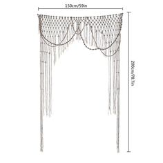 Cómo hacer cortinas de macramé paso a paso | Decomanitas Van Curtains, Macrame Earrings, Knots, Projects To Try, Arts And Crafts, Diy, Home Decor, Bellisima, Club