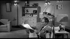 Larry Fine | Gypped in the Penthouse (1955), a Three Stooges short produced and directed by Jules White; distributed by Columbia Pictures | Tags: hair ribbons, hair dryer