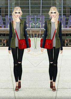 73. Tee - Zimmermann | Trousers - Blanknyc | Jacket - Veronica Beard | Bag - The Cambridge Satchel Company | Sneakers - Frye | Glasses - Victory Optical