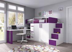 Small Room Design Bedroom, Small Bedroom Designs, Room Ideas Bedroom, Home Room Design, Kids Room Design, Bed Design, Space Saving Bedroom, Bed For Girls Room, Bedroom Decor For Teen Girls