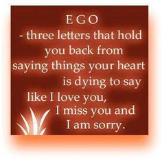 Ego Three little letters