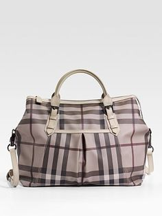 Burberry makes a good looking baby bag. Too bad it's outrageously priced at $950.
