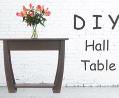 DIY Hall Table