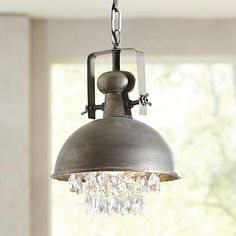 #LGLIMITLESS DESIGN & #CONTEST Luv the mix of rustic metal,and glass bling.Metal and Crystal Pendant