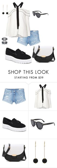 """Blach&white leger"" by iddz22 ❤ liked on Polyvore featuring rag & bone/JEAN, Proenza Schouler, Dorus Mhor and Eva Fehren"