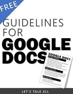 The basic steps to getting started on Google Docs is outlined in this two-page step-by-step guide. Works great as a visual aid to display in class digitally or printed out. Students can avoid technical mistakes by using this organized FREE handout as a guide when using Google Docs. Find it at my TPT store. FREEBIE!
