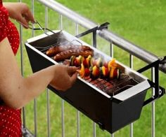 With the balcony barbecue grill you'll be able to enjoy good old fashioned BBQ even if you don't have a home with a sprawling yard. It attaches to the railing of the balcony to allow for cooking in cramped spaces without sacrificing any of the delicious flame-broiled taste.