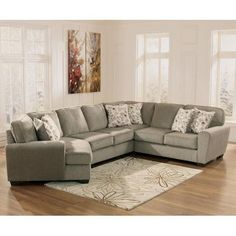 Ashley Furniture Patola Park Patina 4 Piece Small Sectional With Left Cuddler