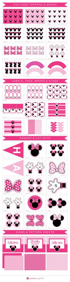 Minnie Mouse Party Package Minnie Mouse por GardellaGlobal en Etsy