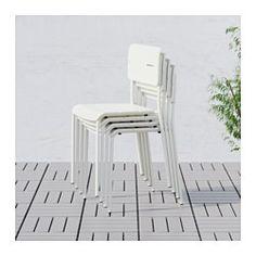 IKEA - VÄDDÖ, Stuhl/außen, , Stuhl aus pulverlackiertem Stahl und Kunststoff - daher robust und einfach zu pflegen.Stapelbare Stühle sind schnell zur Hand und nehmen nach Gebrauch wenig Platz weg.Das Kunststoffmaterial ist UV-stabilisiert und vor Ausbleichen geschützt - das beugt Rissbildung und Austrocknen vor, erhöht die Haltbarkeit und das Produkt wirkt lange wie neu.Leicht zu reinigen - einfach feucht abwischen.