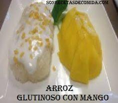 Arroz glutinoso con mango                                                                                                                                                     Más