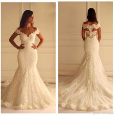 2015 New Arabic Lace Mermaid Wedding Dresses With V Neck Capped Sleeves Wedding Gowns Vestidos De Voiva African Dress Bridal Gowns Bo8114 Wedding Dress Mermaid Style Wedding Dresses Affordable From Officesupply, $148.44| Dhgate.Com