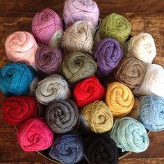 Bouquet of cotton yarn