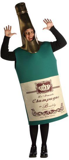 ouch! Le déguisement bouteille de champagne pour adulte !