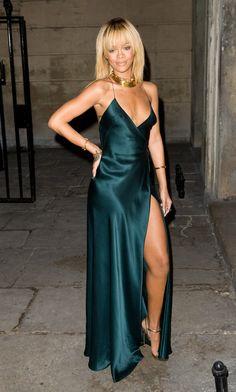 Rihanna - Emerald Green Giorgio Armani Gown