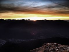 Monte Gaggio (Ticino, Switzerland)  Sunrise winter solstice 2015 Photo: Luca Manetti #trailburning