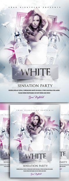White Party Flyer Party Flyer Template And Flyer Template