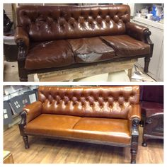 We carried out a complete makeover on this bench by upholstering it in a different leather, adding new fillings and giving it a varnish! We think you'll agree it has made quite the difference.